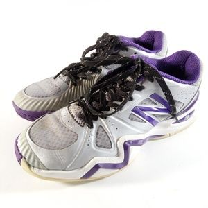 New Balance 1296 Size 8 D Silver Purple Tennis 🎾